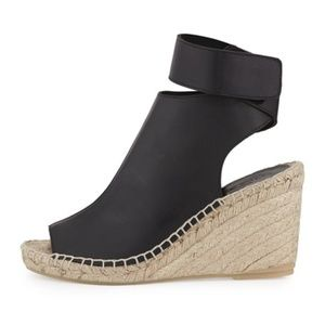 Vince Seymour Leather Espadrille Wedge 36/6